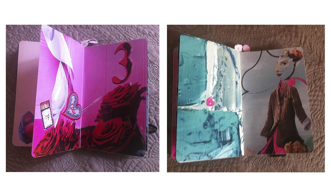 marisa coppiano collage quaderno cuori