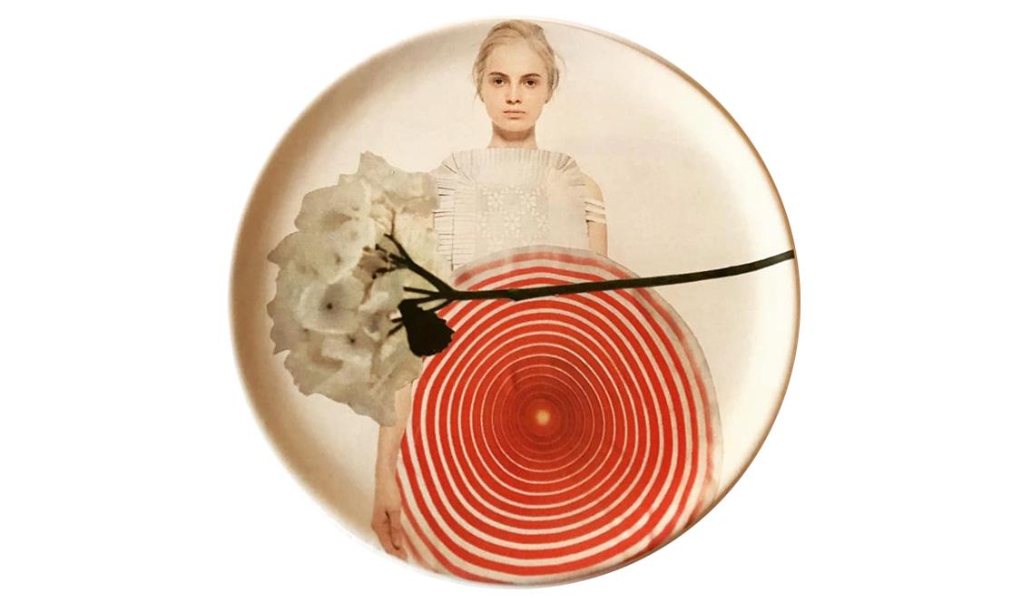 dishes collezione piatti ceramica collage fine art marisa coppiano